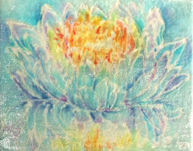 Aqua-line Crystalline Fire Lotus by  Unknown