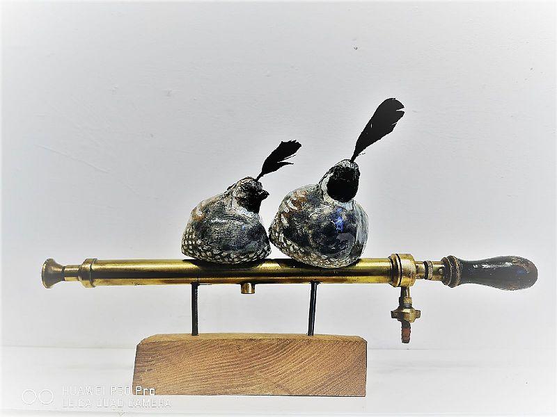 Two birds on Sprayer