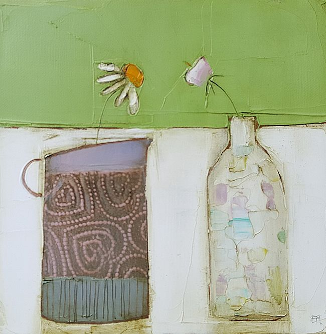 Eithne  Roberts - Jug of hearts and little bottle