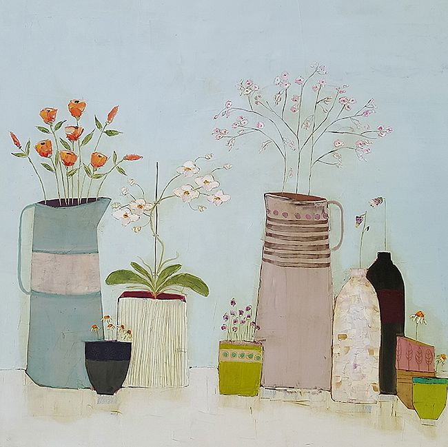 Eithne  Roberts - Jugs bottles and little green cup