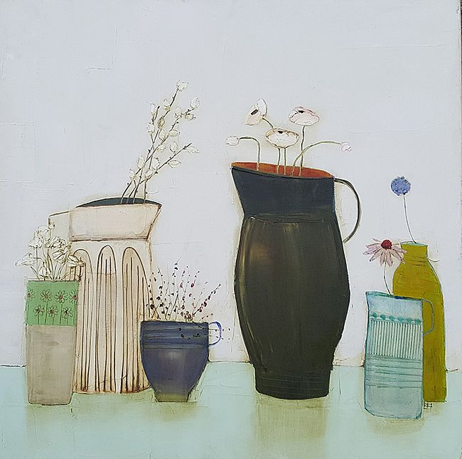 Eithne  Roberts - Katkin jug and other blooms