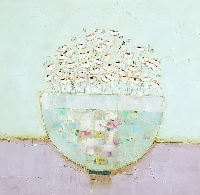 Eithne  Roberts - Large bowl and tiny flowers