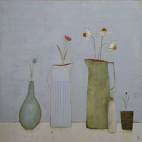 Eithne  Roberts - Large Jugs and Blossoms