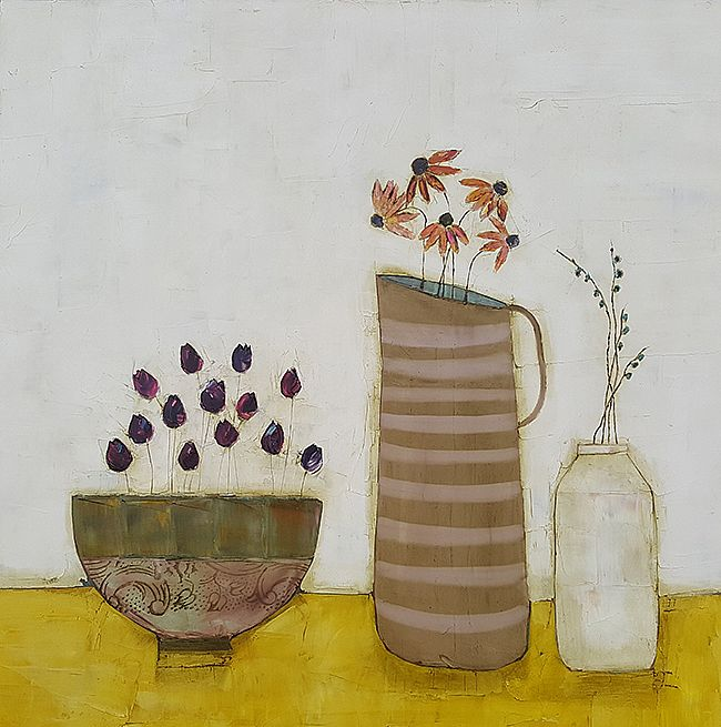 Eithne  Roberts - Large stripey jug