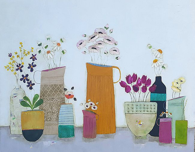 Eithne  Roberts - Late spring on the shelf