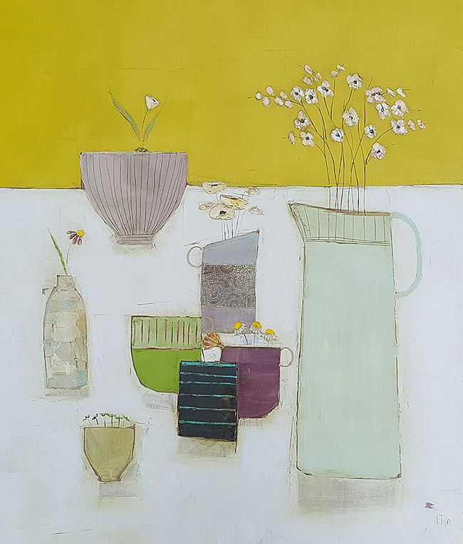 Eithne  Roberts - Linen mustard and tea