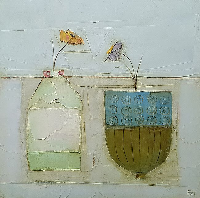 Eithne  Roberts - Little bottle blue pot