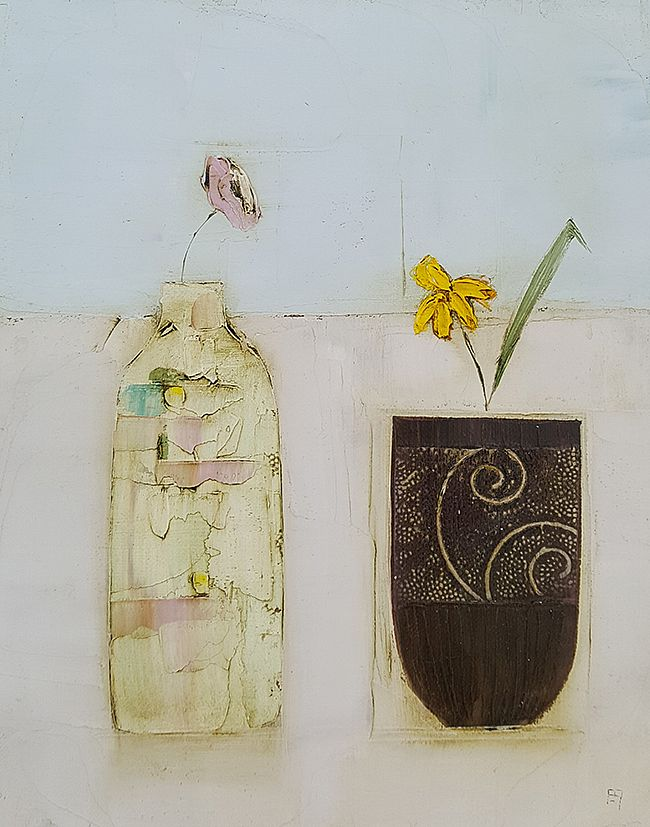 Eithne  Roberts - Little daffodil vessel and bottle