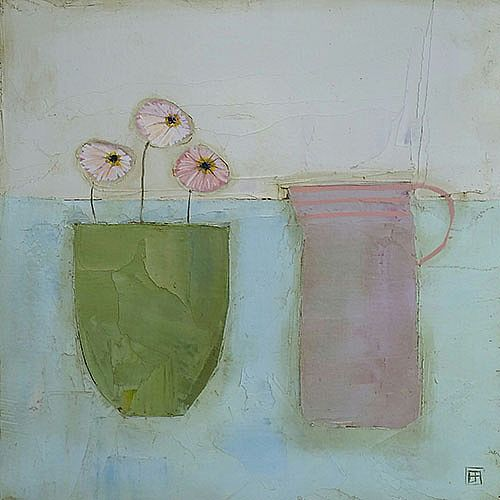Eithne  Roberts - Little green pot pink jug