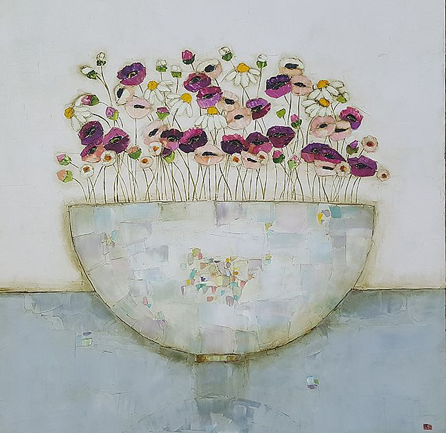 Eithne  Roberts - Mixed spring blooms