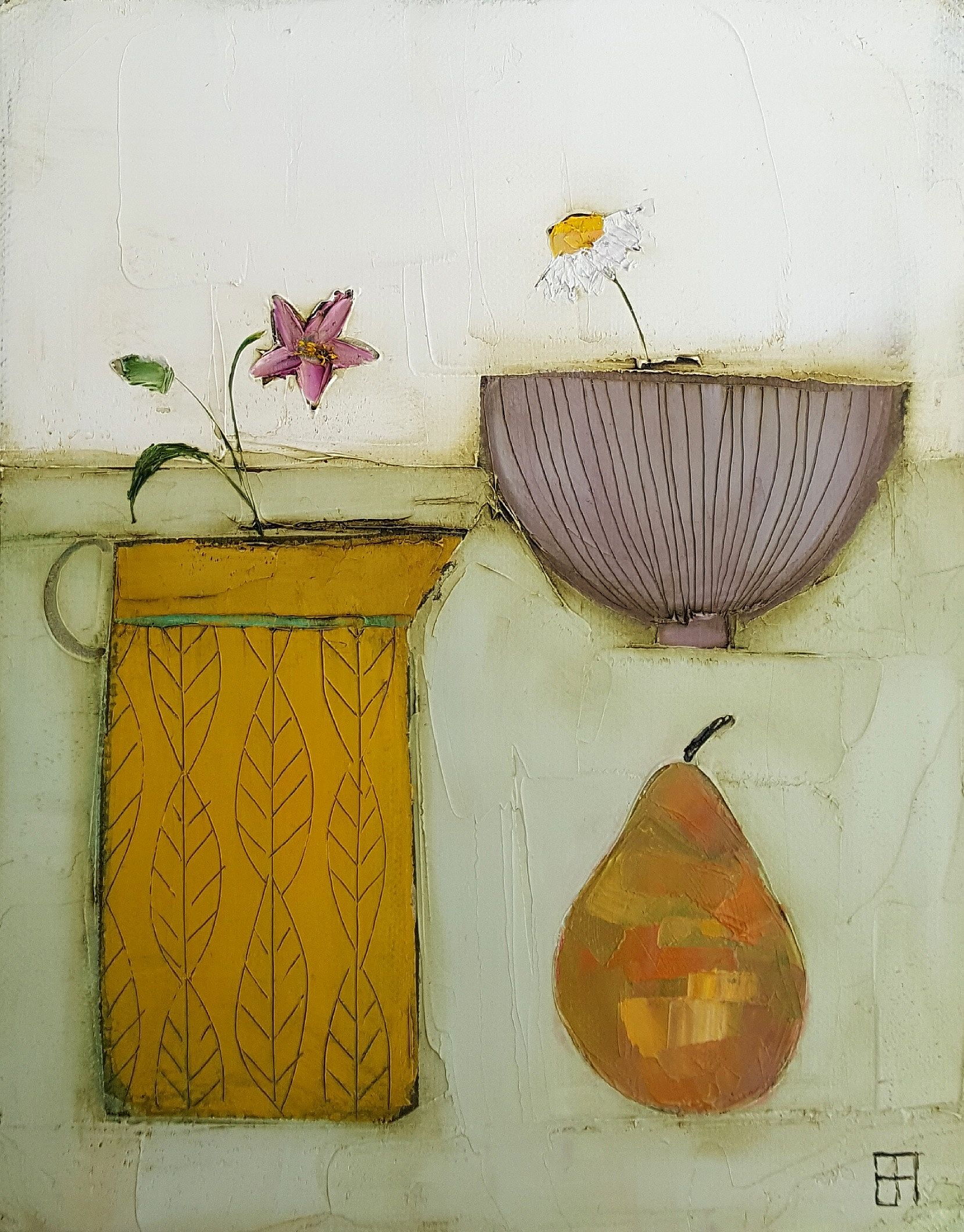 Eithne  Roberts - Mustard jug and pear