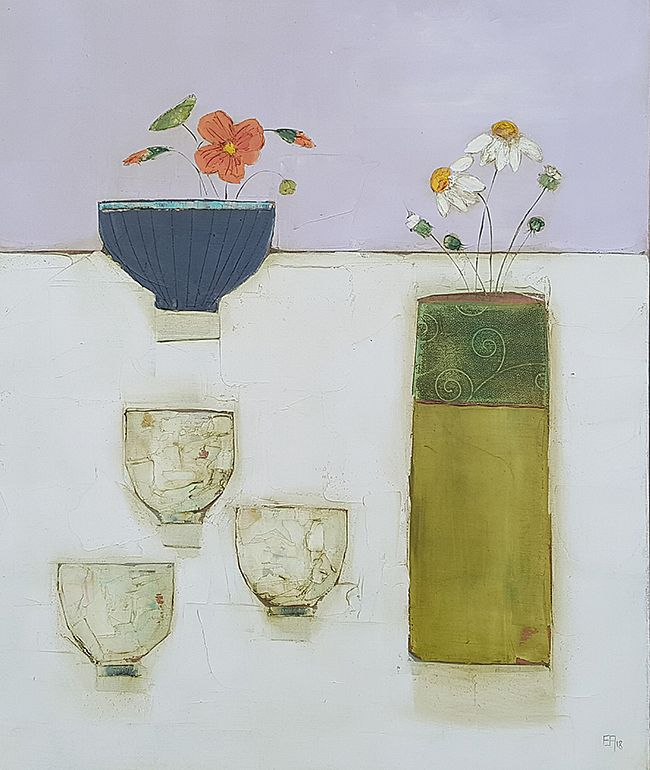 Eithne  Roberts - Nasturtiums and green tea
