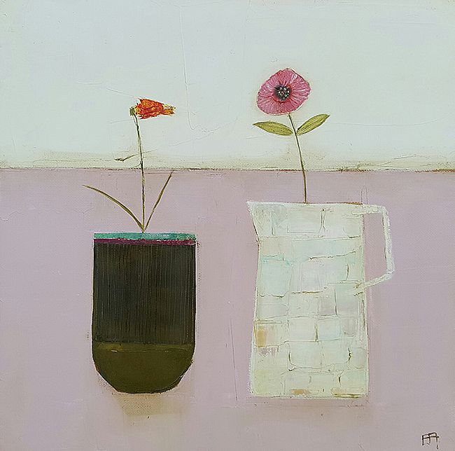 Eithne  Roberts - On the pink table