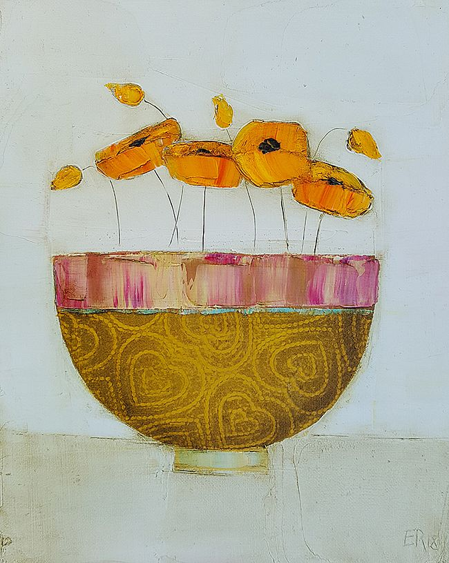 Eithne  Roberts - Orange and hearts