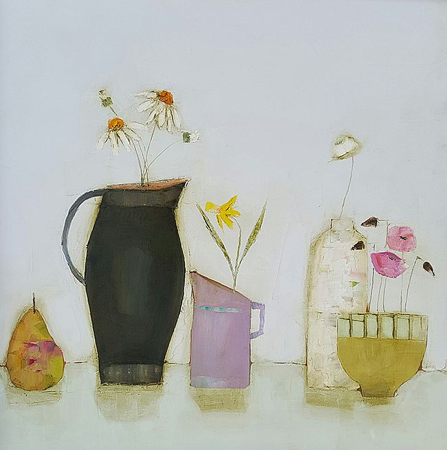 Eithne  Roberts - Pear and flowers