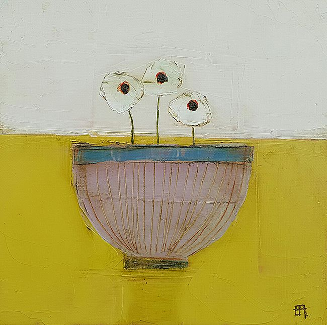 Eithne  Roberts - Pink bowl on yellow