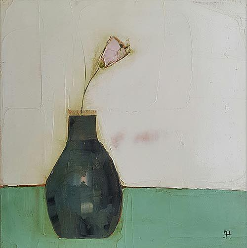 Eithne  Roberts - Pink in dark vase