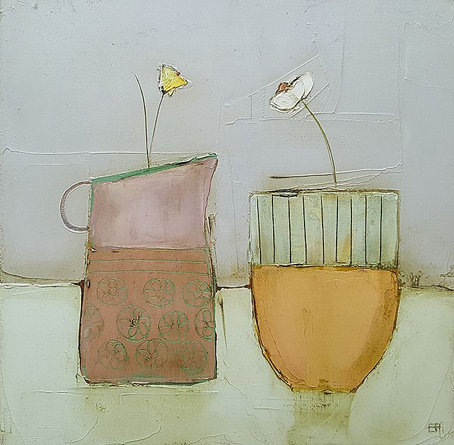 Eithne  Roberts - Pink jug and orange pot