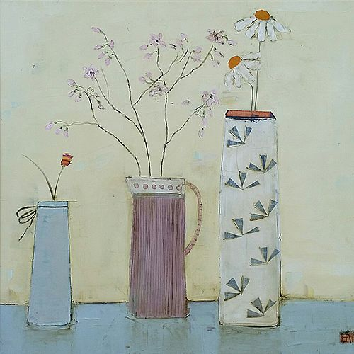 Eithne  Roberts - Pink jug long vase