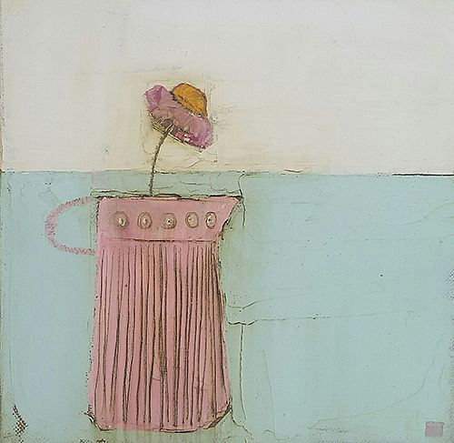 Eithne  Roberts - Pink on blue