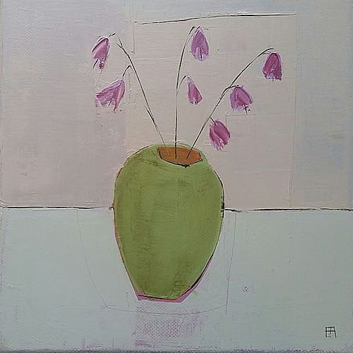 Eithne  Roberts - Pinks in Green