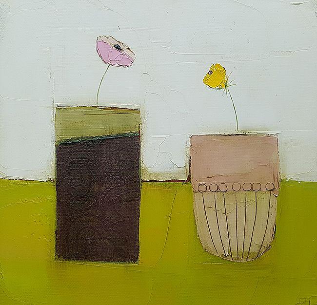 Eithne  Roberts - Pots on green