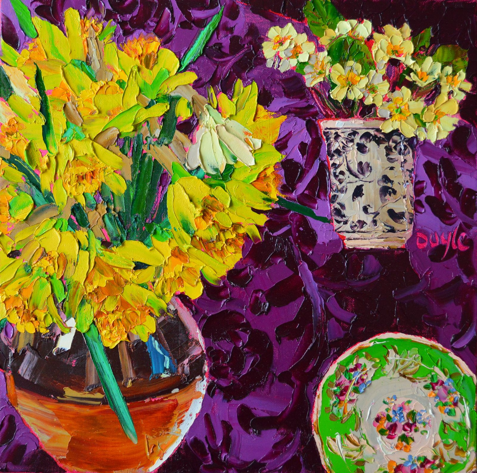 Primroses and Daffodils by Lucy Doyle
