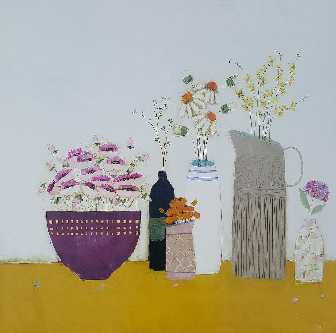Eithne  Roberts - purple bowl mustard shelf