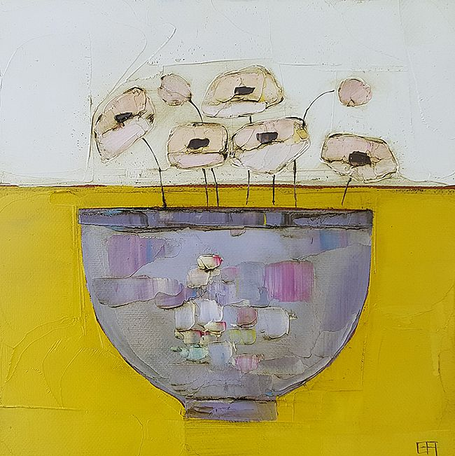 Eithne  Roberts - Purple bowl on mustard