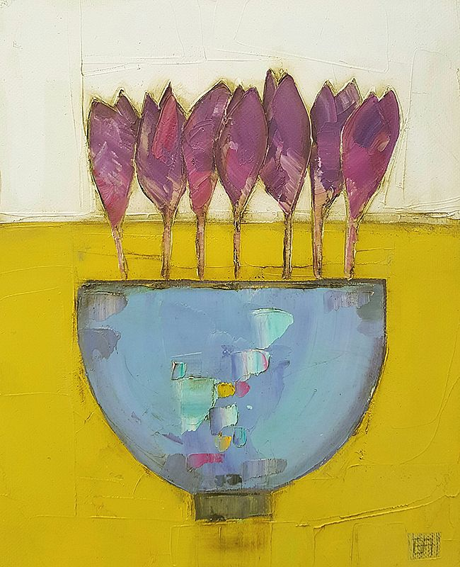 Eithne  Roberts - Purple crocus bowl