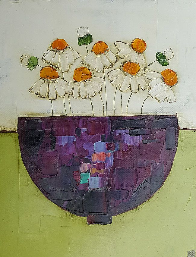 Eithne  Roberts - Purple jewel with daisies