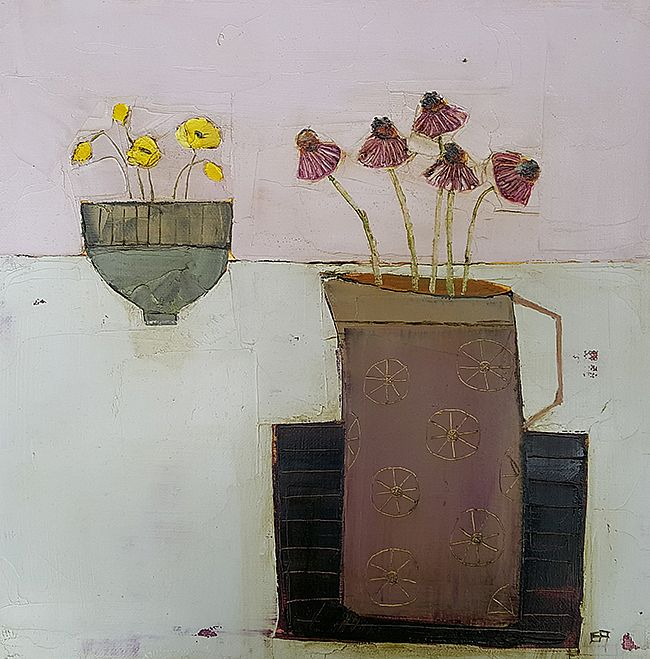 Eithne  Roberts - Purple jug and green bowl