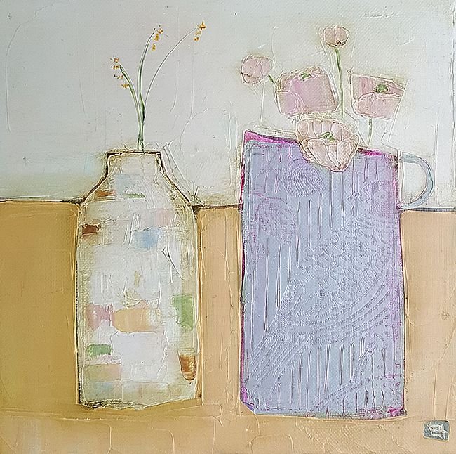 Eithne  Roberts - Purple jug and little bottle