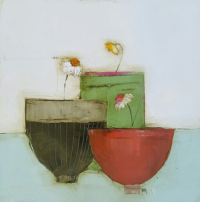 Eithne  Roberts - Red, green and brown