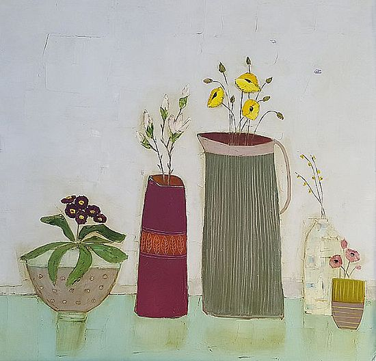 Eithne  Roberts - Red magnolia vase