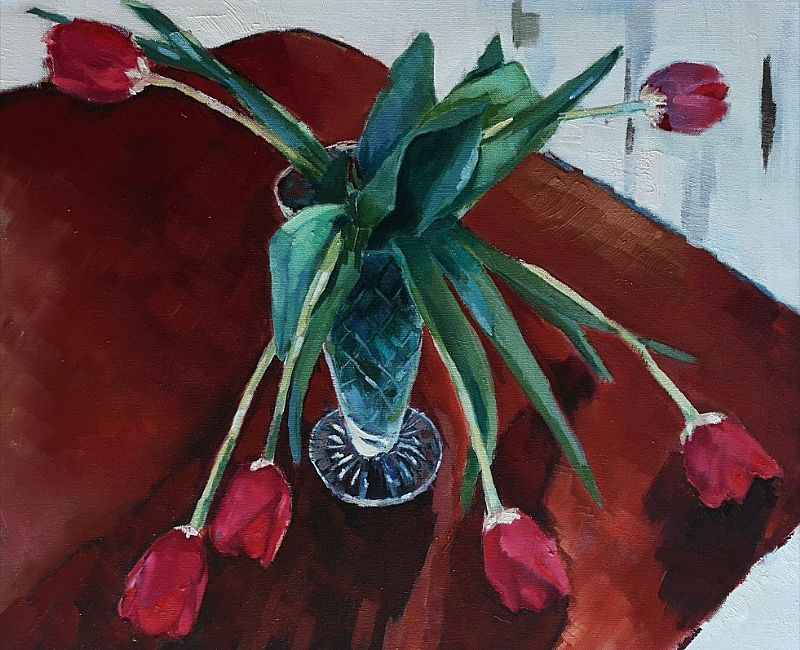 View Red Tulips