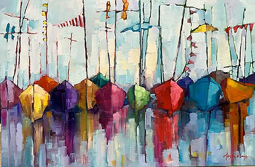 Angela Morgan - sailing for the blue; edge of the mist