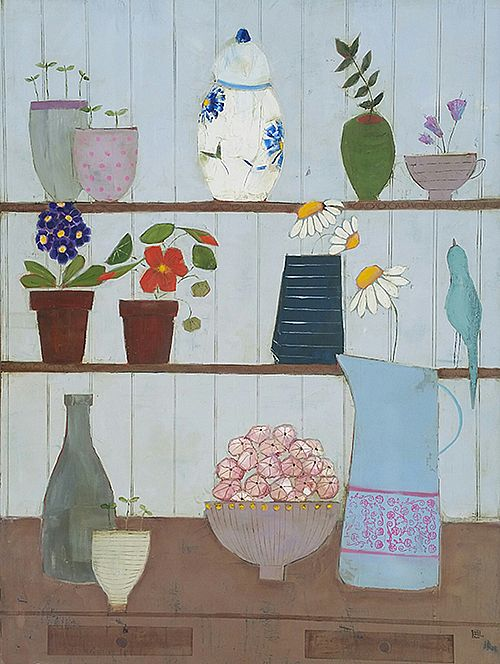 Eithne  Roberts - Shelflife bluebird and daisies