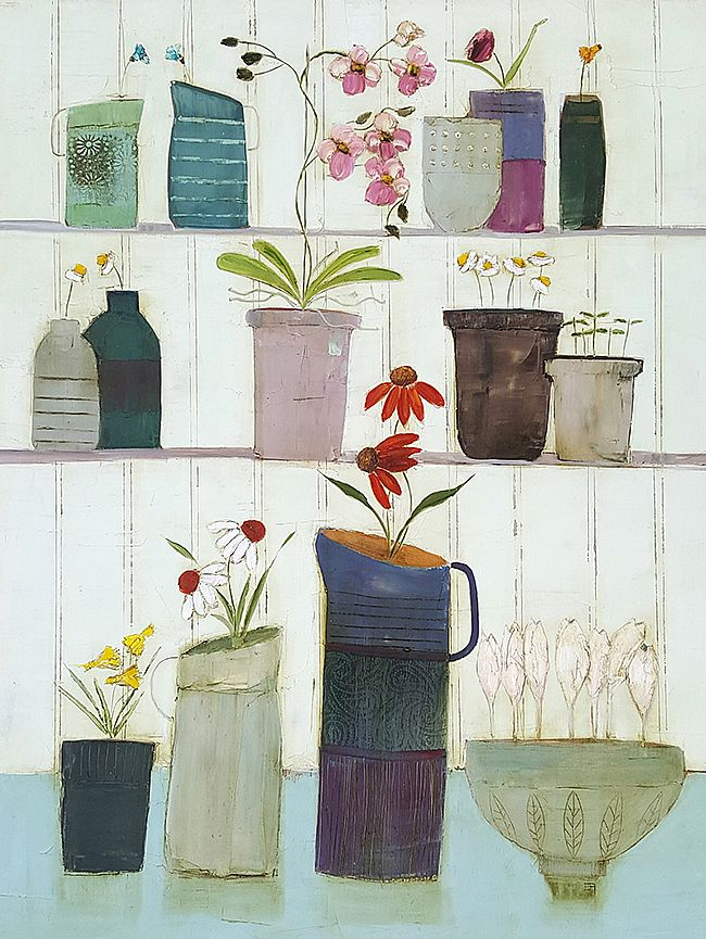 Eithne  Roberts - Shelflife with large purple jug