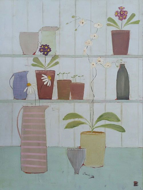 Eithne  Roberts - Shelflife with Tall Orchid