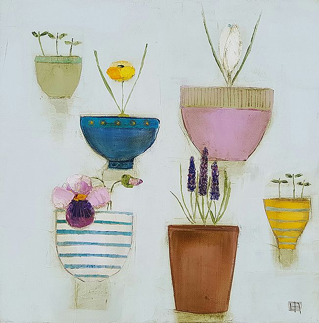 Eithne  Roberts - Six flower bowls