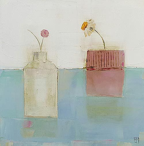 Eithne  Roberts - Small blue table