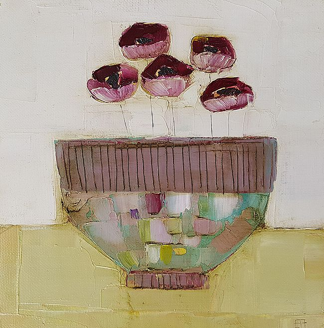 Eithne  Roberts - Small purple flower bowl