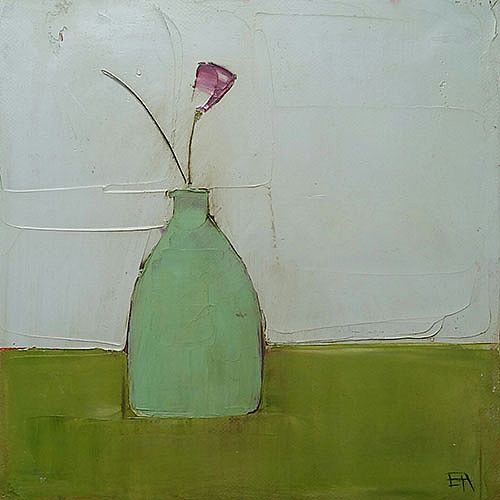 Eithne  Roberts - Small Vase on Green