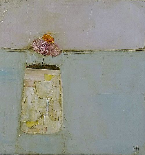 Eithne  Roberts - Small white vase