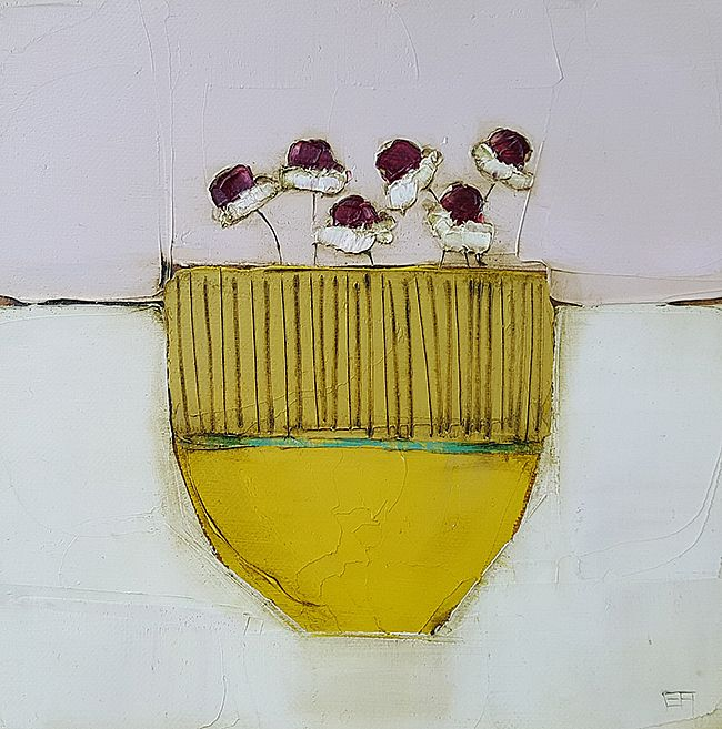 Eithne  Roberts - Small yellow daisy pot