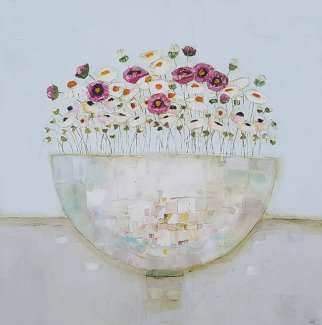 Eithne  Roberts - Spring time in a white bowl