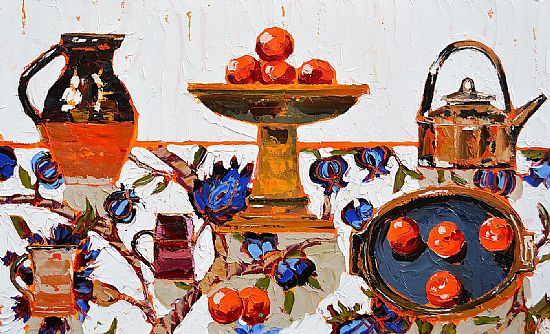 Lucy Doyle - Still life with oranges