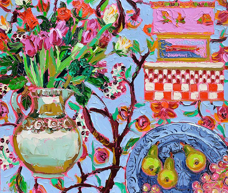 Lucy Doyle - Still Life with Cake Tins