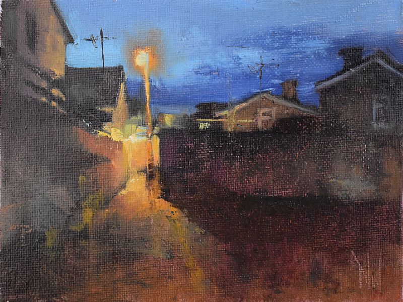 View Street corner nocturne (II)